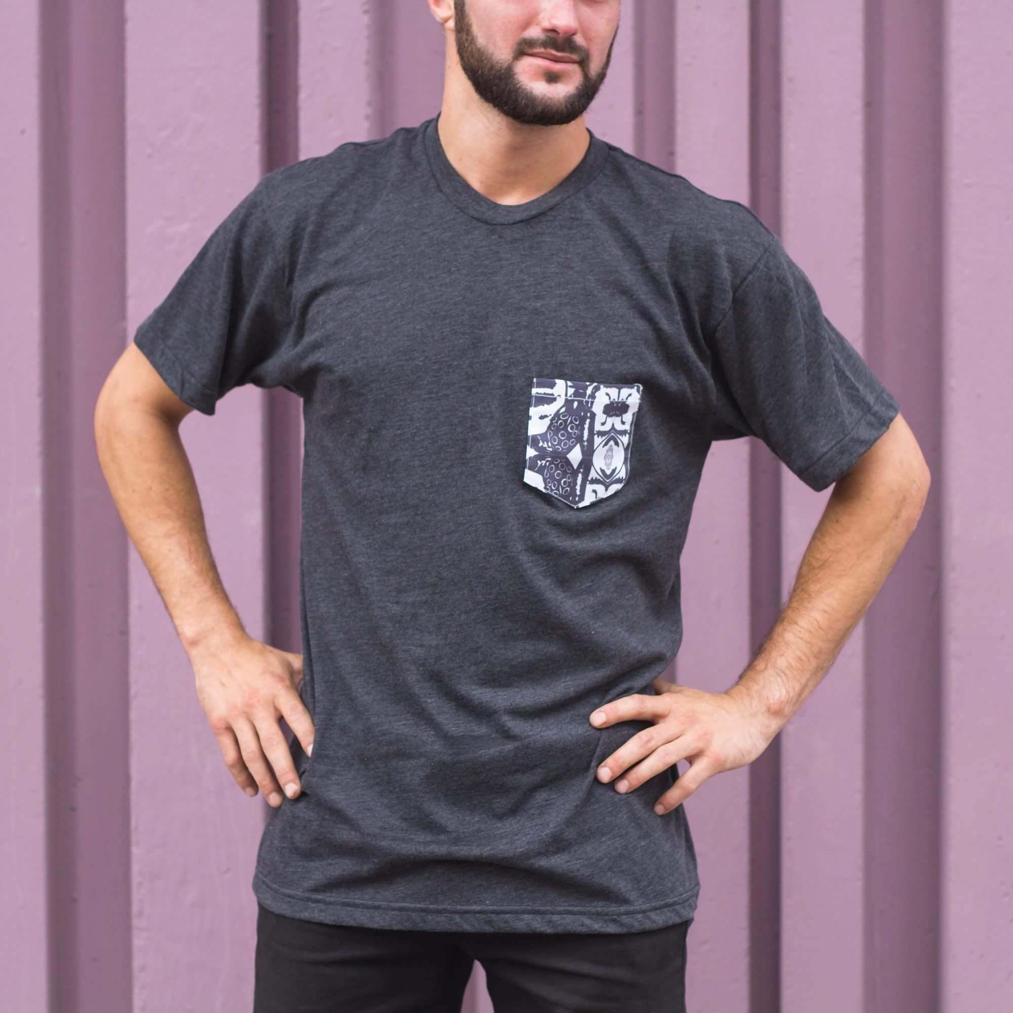 LaureMjoy - T-shirt gris foncé